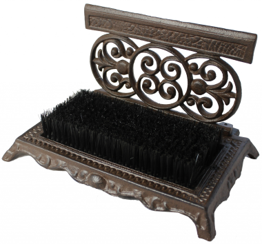 Cast Iron Shoe Scraper & Brush