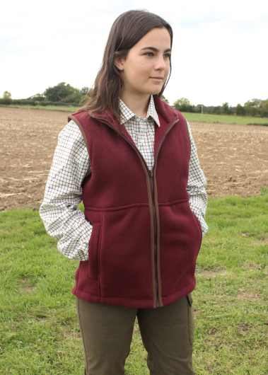 Alan Paine Aylsham Ladies Fleece Waistcoat (Bordeaux)