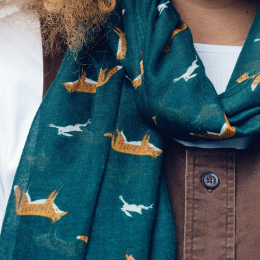 Fox Chase Scarf - Forest Green