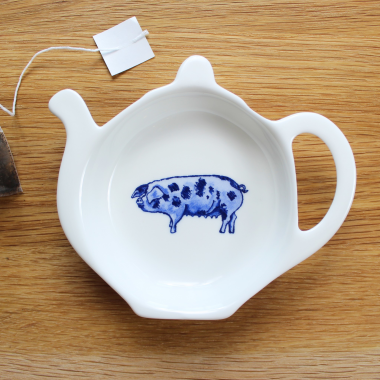 Lucy Green Designs - Pig Tea Tidy