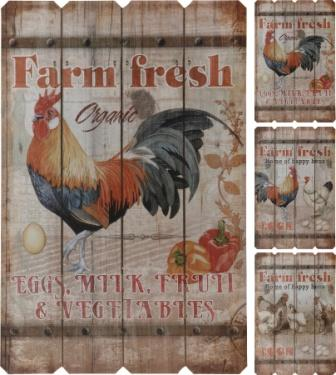 Farm Fresh Wooden Wall Decoration
