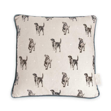 Walkies Labrador Cushion by Wrendale Designs