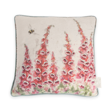 """Foxgloves"" Fox Cushion by Wrendale Designs"