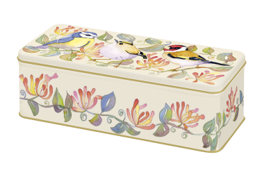 Garden Birds Rectangular Tin by Emma Ball