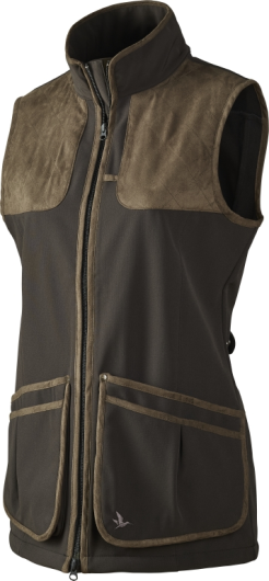 Seeland Winster Lady Softshell Waistcoat in Black Coffee