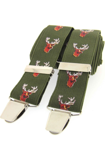 Stag Braces - Green