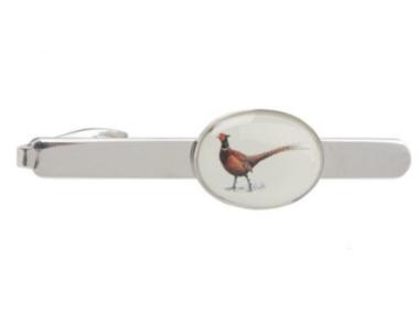 Standing Pheasant Tie Clip