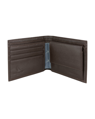Leather Wallet with Pheasant Lining - Brown
