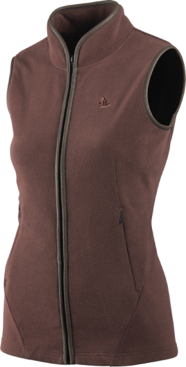 Seeland Bolton Lady Fleece Waistcoat (Bitter Chocolate)