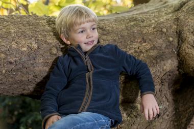 Baleno Hammy Child's Half-Zip Fleece Khaki