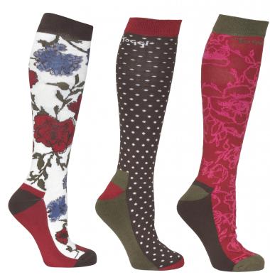 Toggi Halton Ladies Three Pack Socks (Winter White)