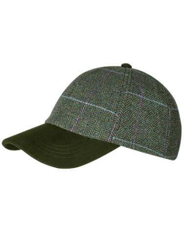 Hoggs of Fife Albany Tweed Ladies Baseball Hat