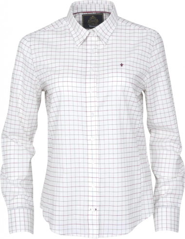 Toggi Ladies Bootle Tattersall Shirt (Pomegranate Check)