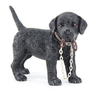 Standing Walkies Black Labrador Figure