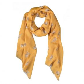 Leaping Hare Scarf (Honeycomb) by Wrendale
