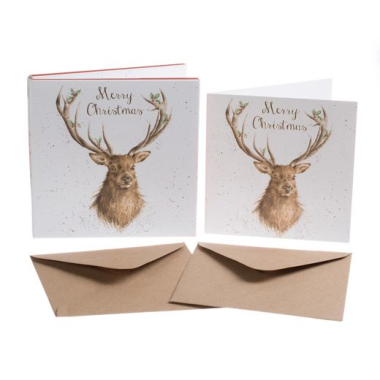 'Christmas Stag' Luxury Boxed Christmas Cards (pack of 8)