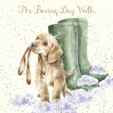 'The Boxing Day Walk' Christmas Card