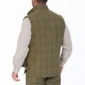 Alan Paine Rutland Tweed Waistcoat (Dark Moss)