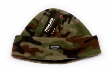 Kids Camo Fleece Thinsulate Hat 55cm