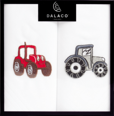 Tractor Embroidered Handkerchief Set (pack of 2)
