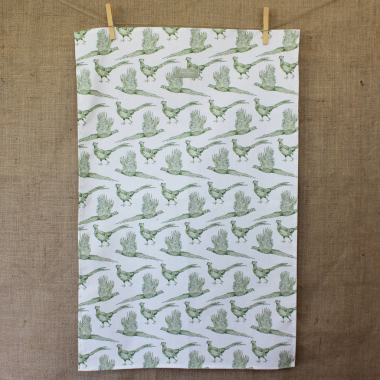 Lucy Green Designs - Pheasant Tea Towel