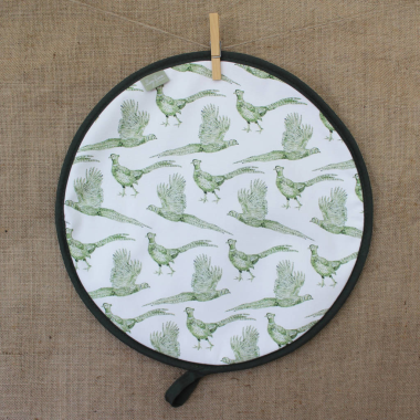 Lucy Green Designs  - Pheasant Hob Lid Cover (Round)