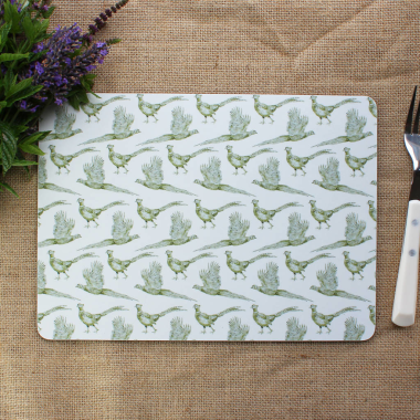 Lucy Green Designs - Pheasant Placemats