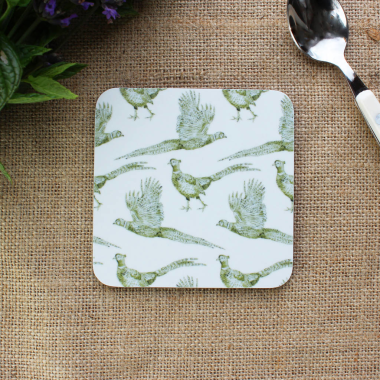 Lucy Green Designs - Pheasant Coaster (Boxed Set of 4)
