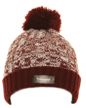 Bartleby Childs Bobble Hat - Burgnundy