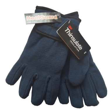 Ladies Fleece Gloves - Navy