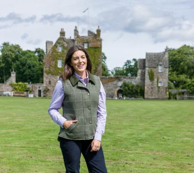 Hoggs of Fife Albany Ladies Lambswool Tweed Waistcoat