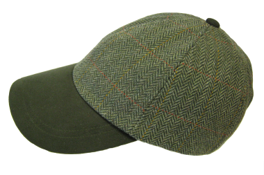 Hoggs of Fife Edinburgh Tweed Baseball Cap