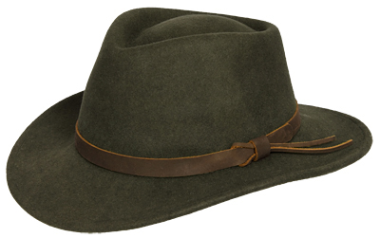 Hoggs of Fife Perth Crushable Felt Hat