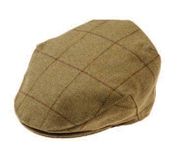 Alan Paine Rutland Tweed Waterproof Cap (Lichen)