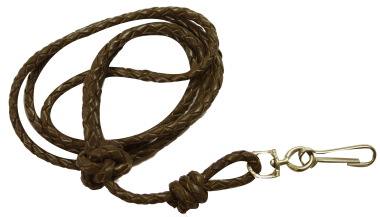 Plaited Leather Lanyard (Brown or Pink)