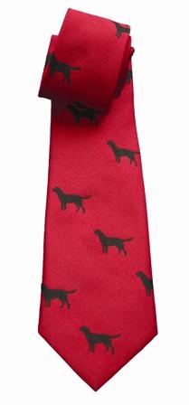 Black Labrador Tie