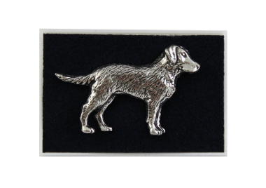 Pewter Brooch - Standing Labrador