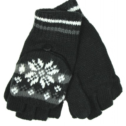 Ladies Patterned Fingerless Gloves