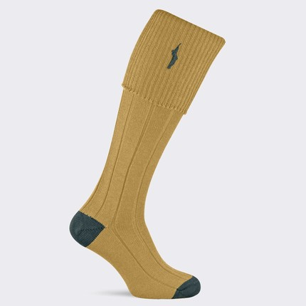 Pennine Imperial Premium Wool Shooting Socks (Antique Gold)
