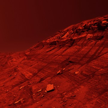 'cliff on Mars' iStock_000046322034_Medium