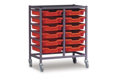 Trolley for Gratnell Trays, Double Column