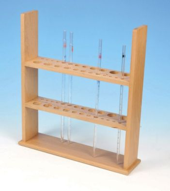 Pipette Stand, Holds 12 Vertically, Wooden