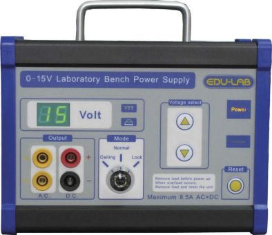 Power Supply, 0-15v Stepped - Edulab