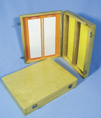 Slide Case, wooden (for 100 slides)