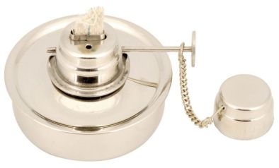 Spirit Burner With Wick, Stainless Steel