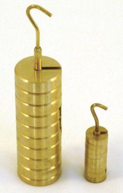Mass Set, Brass, Incl.Hanger., 100g (9x10g & 10g hanger)