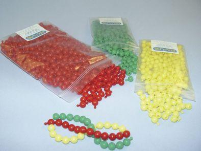 Poppit Beads, Yellow (Pk200)