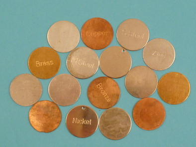 Metal Discs - Set of 16 (8 stamped & 8 unstamped)