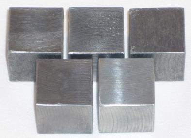 Cubes For Density 20mm Zinc (Pk5)