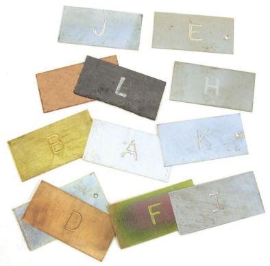 Metal Testing Strips 50x25mm (Set 12)